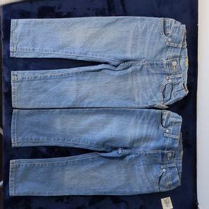 Girls light blue adjustable jeans-(lot of 2)  2T